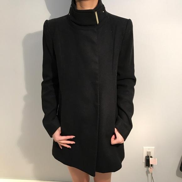 Mango Jackets Coats Worn 1x Peacoat With Turtleneck Detail